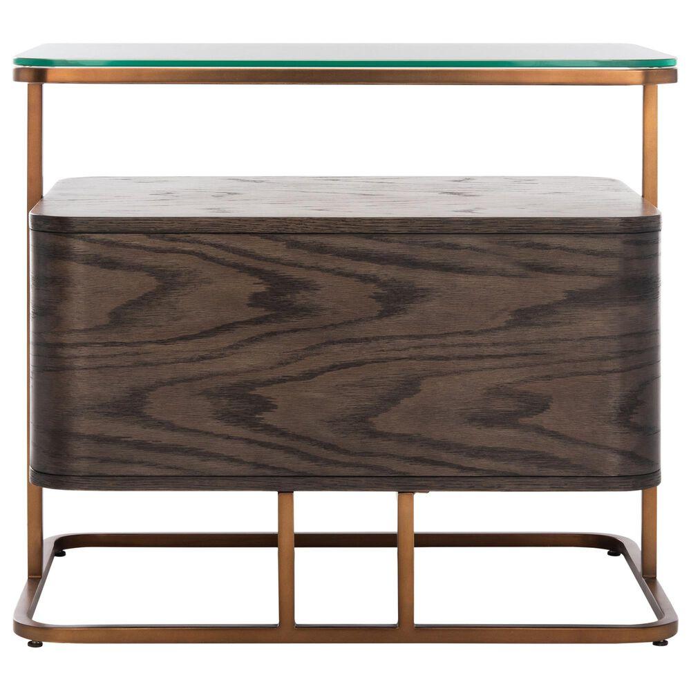 Safavieh Johnson 1 Drawer Nightstand in Dark Walnut, , large