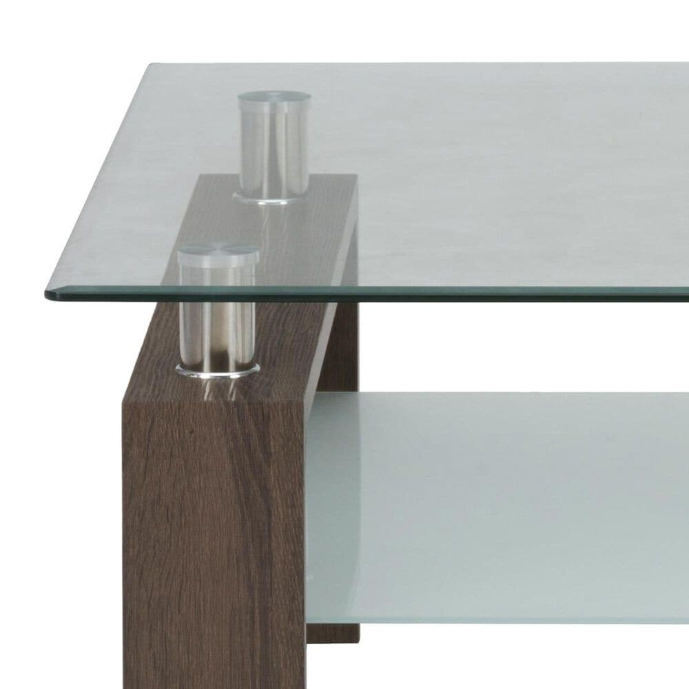 Waltham Compass Cocktail Table with Glass Top, , large