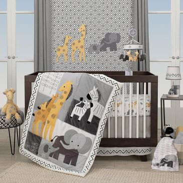 Lambs and Ivy Safari 3-Piece Crib Bedding Set in Gray, , large