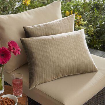 "Sorra Home Sunbrella 12"" x 24"" Pillow in Dupione Walnut (Set of 2), , large"