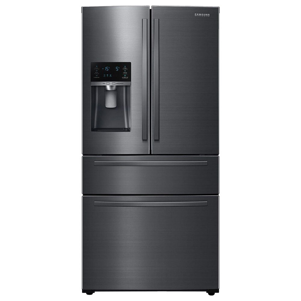 Samsung 25 Cu. Ft. 4-Door French-Door Refrigerator with Twin Cooling Plus in Black Stainless Steel, , large