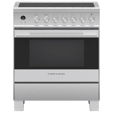 """Fisher and Paykel 30"""" Freestanding Electric Range in Stainless Steel, , large"""