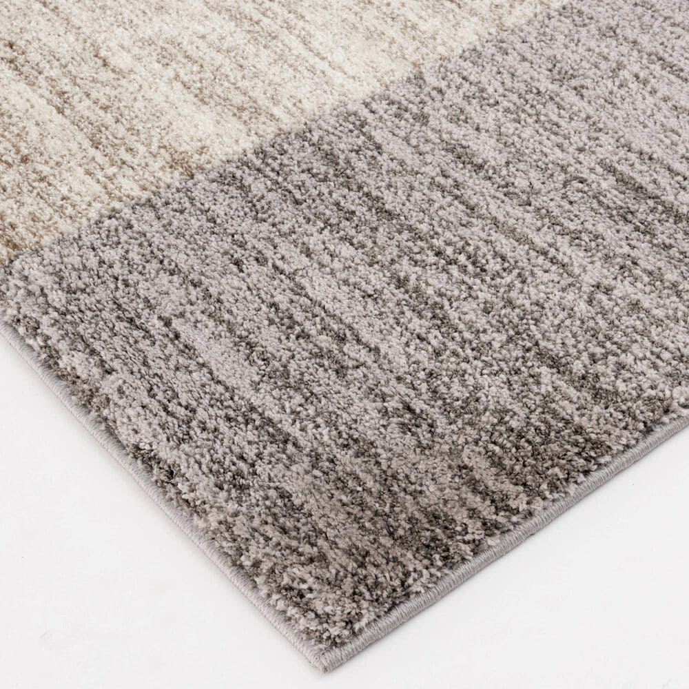 """Central Oriental Structures Torrent Adley 6252OC 6'6"""" x 9'6"""" Soot and Cloud Area Rug, , large"""