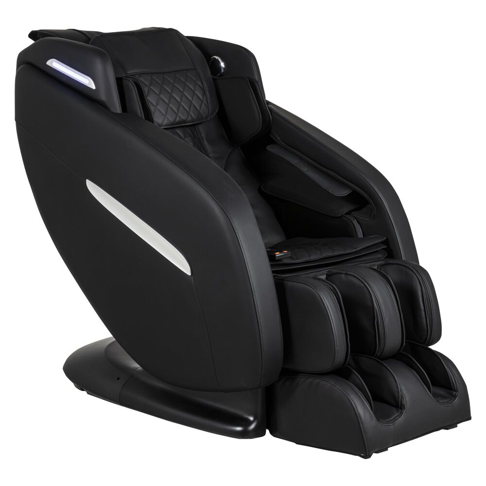 Ergotech Massage Chair with Lumbar Heat in Black, , large