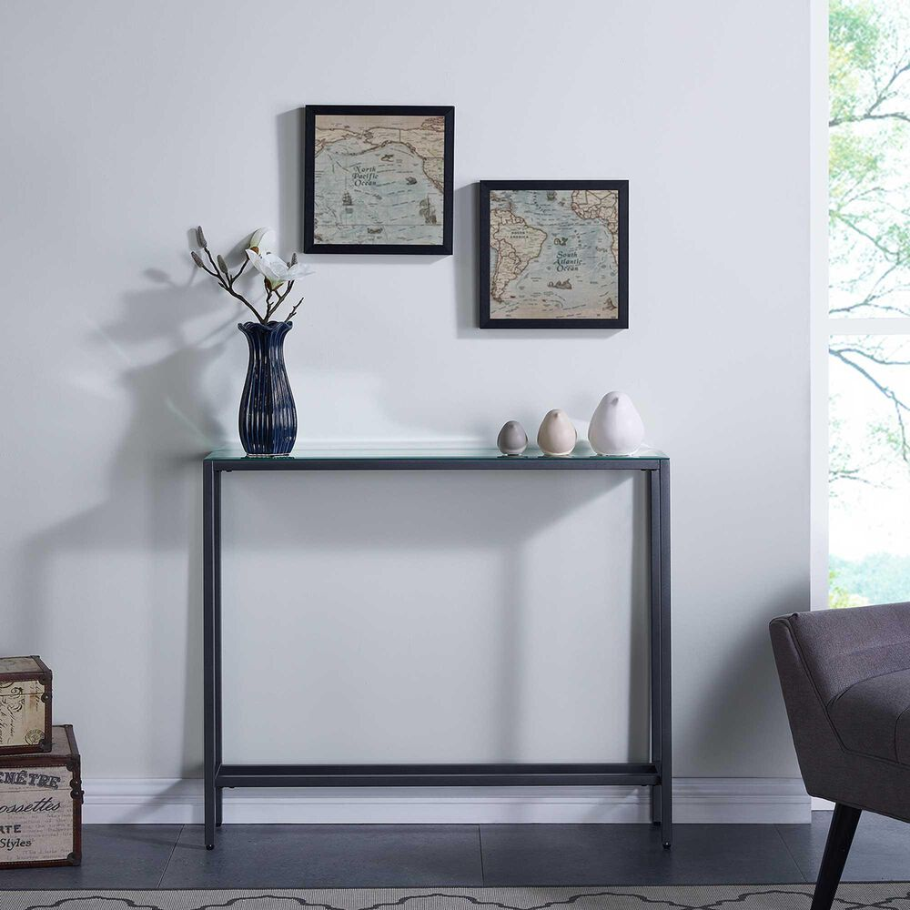 """Southern Enterprises 30""""Console Table in Gunmetal Gray, , large"""