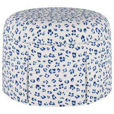 Skyline Furniture Ely Ottoman in Brush Cheetah Blue, , large