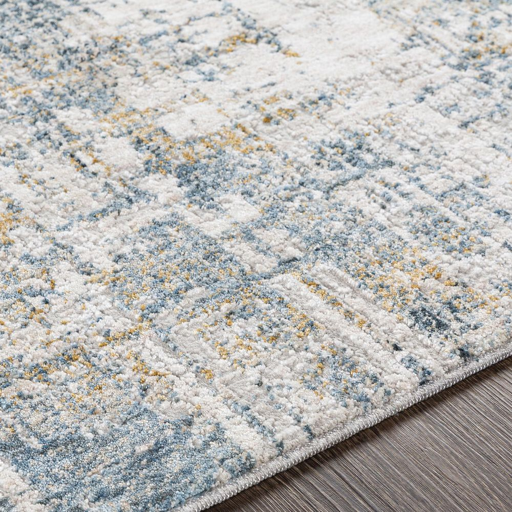 "Surya Carmel 7'10"" x 10' Camel, Mustard, Navy and Aqua Area Rug, , large"