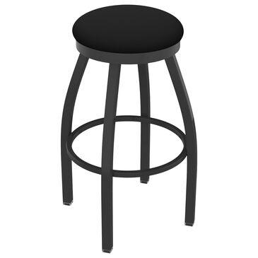 "Holland Bar Stool 802 Misha 36"" Swivel Extra Tall Bar Stool with Pewter and Black Vinyl Seat, , large"