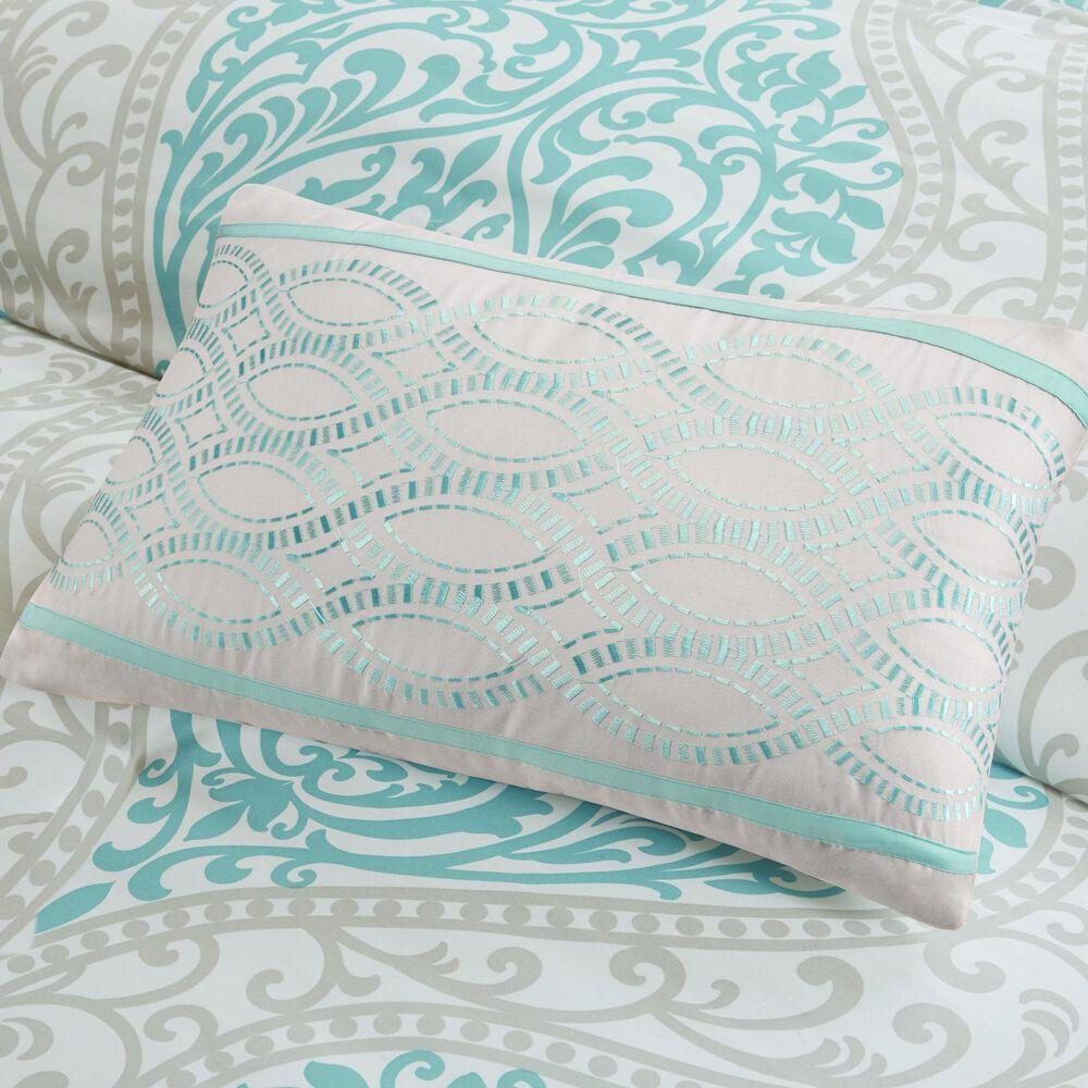 Hampton Park Senna 5-Piece Full/Queen Comforter Set in Aqua, , large