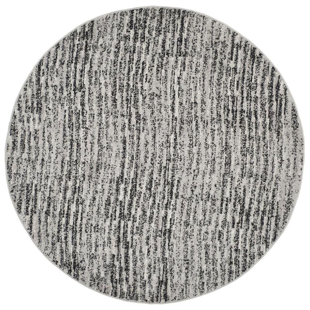 Safavieh Adirondack ADR117A 6' Round Black and Silver Area Rug, , large