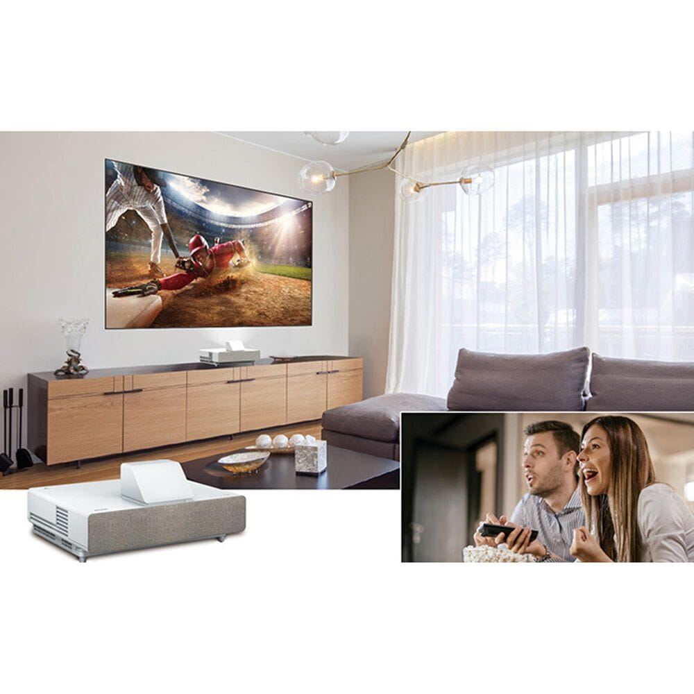 Epson EpiqVision Ultra LS500 Short Throw Laser Projection TV with 4K PRO-UHD and HDR (Projector Only) in White, , large