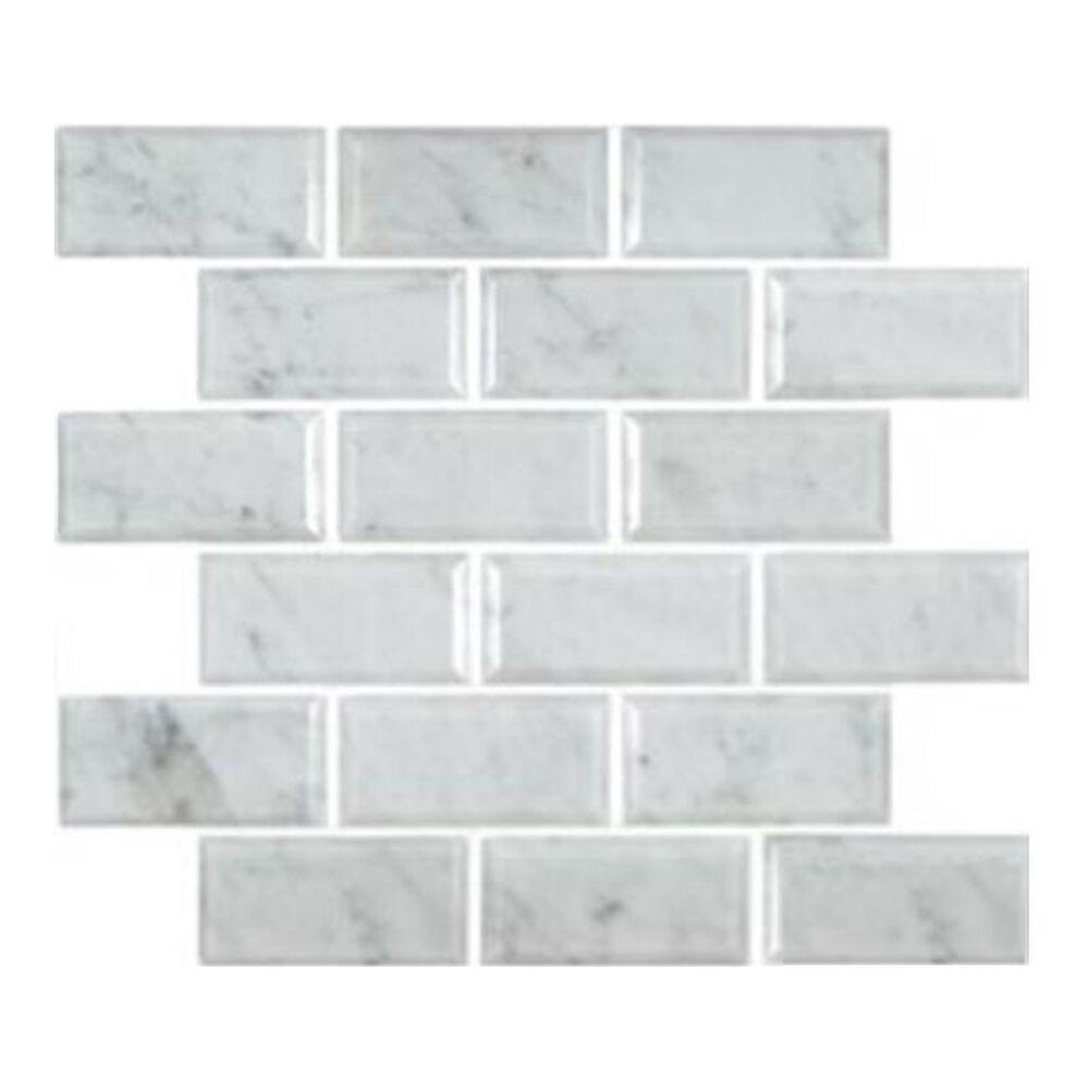 "MS International Greecian White 12"" x 12"" Polished Natural Stone Mosaic Sheet, , large"