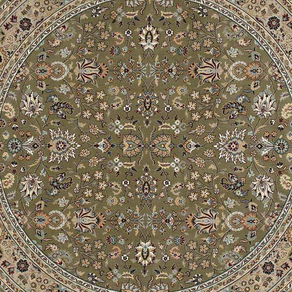 "Nourison Antiquities ANT04 K/I 7'10"" Round Sage Area Rug, , large"