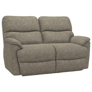 La-Z-Boy Trouper Power Reclining Loveseat with Headrest in Sable, , large