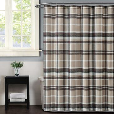 Pem America Truly Soft Paulette Shower Curtain in Taupe, , large