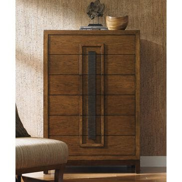 Tommy Bahama Home Island Fusion 2-Drawer Chest in Dark Walnut, , large