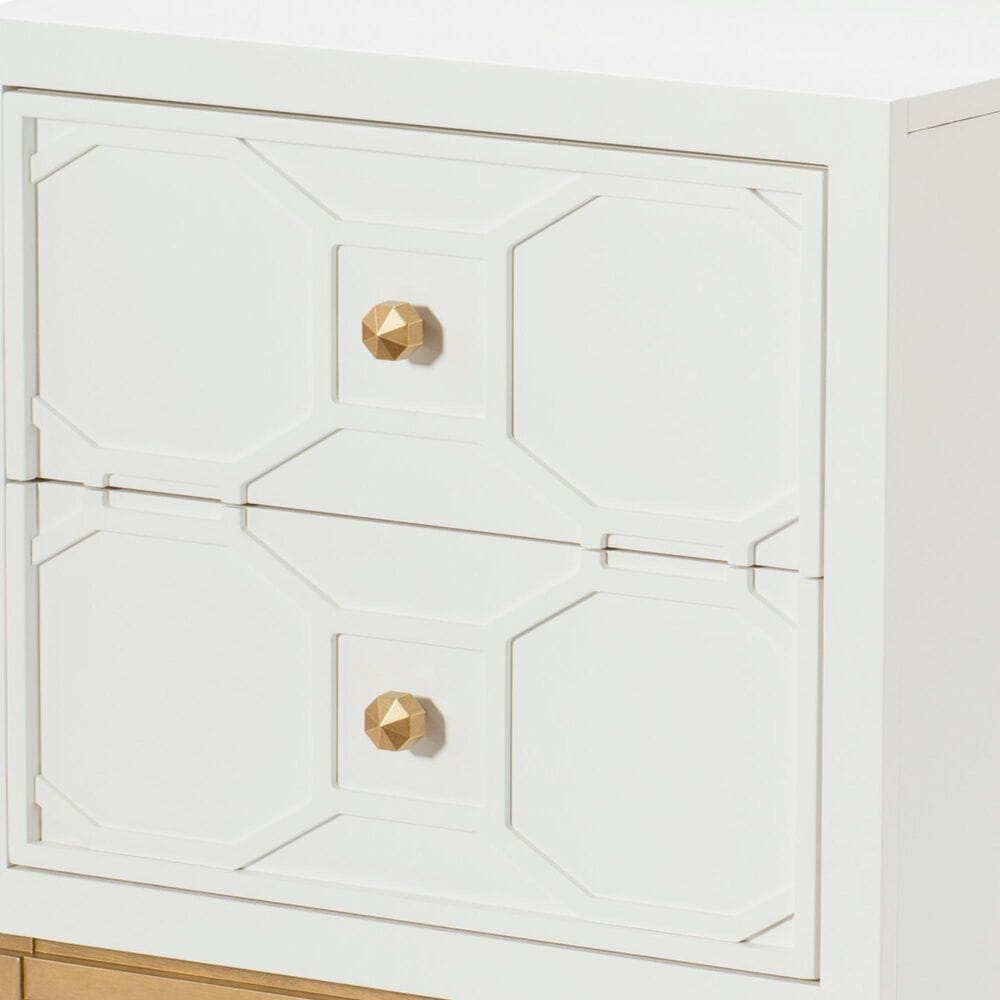 Legacy Classic Chelsea Nightstand with Lattice in White, , large