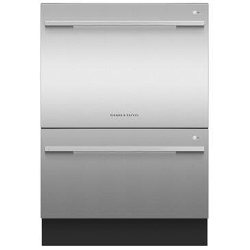 Fisher and Paykel Built-In Tall Double Drawer Dishwasher with 14 Place Settings in EZKleen Stainless Steel, , large