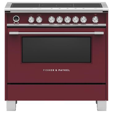 """Fisher and Paykel 36"""" Classic Induction Range with 5 Burners in Red, , large"""