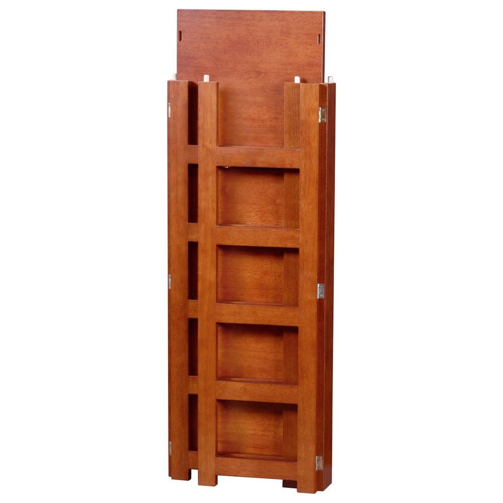 """Regency Global Sourcing Flip Flop 34"""" Folding Bookcase with Bins in Cherry/White, , large"""