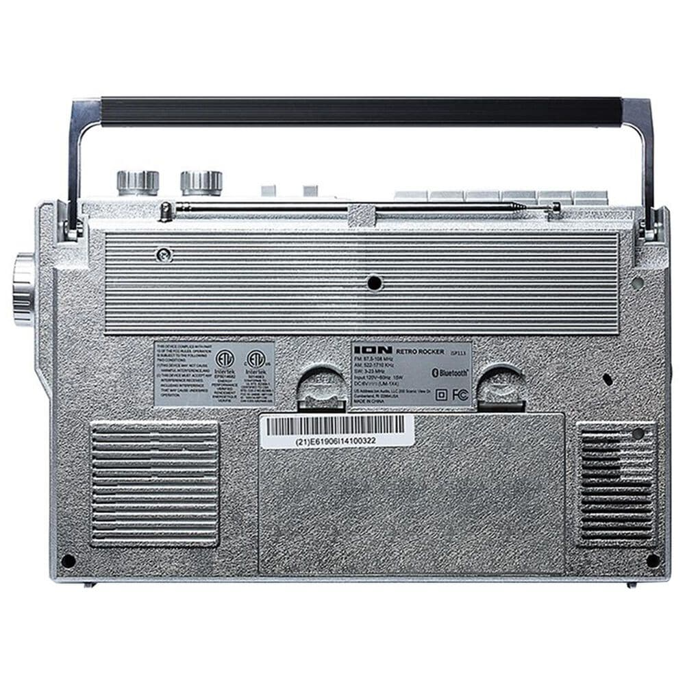 Ion Retro Rocker Portable Retro-Style Compact Boombox in Sliver, , large
