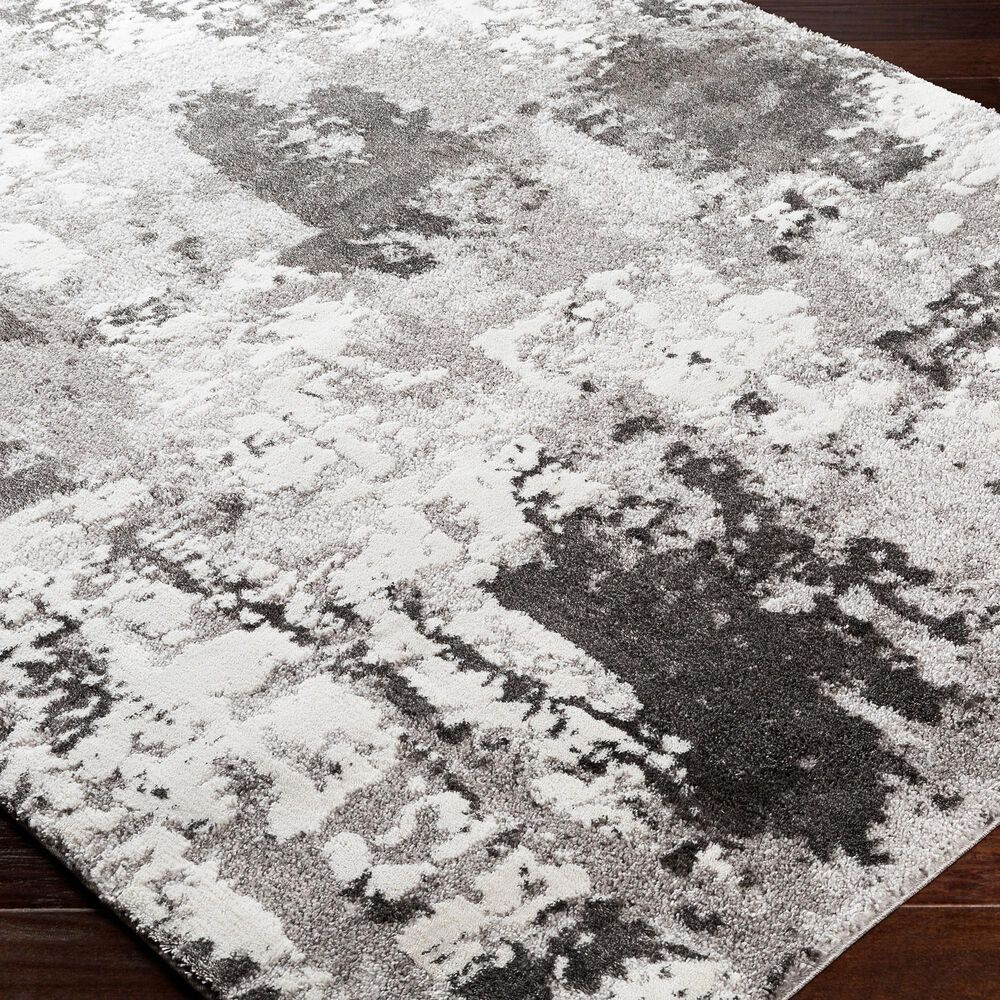 """Surya Venice VNE-2308 6'9"""" x 9'6"""" Charcoal and Ivory Area Rug, , large"""