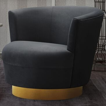 Tov Furniture Noah Swivel Chair in Black, , large