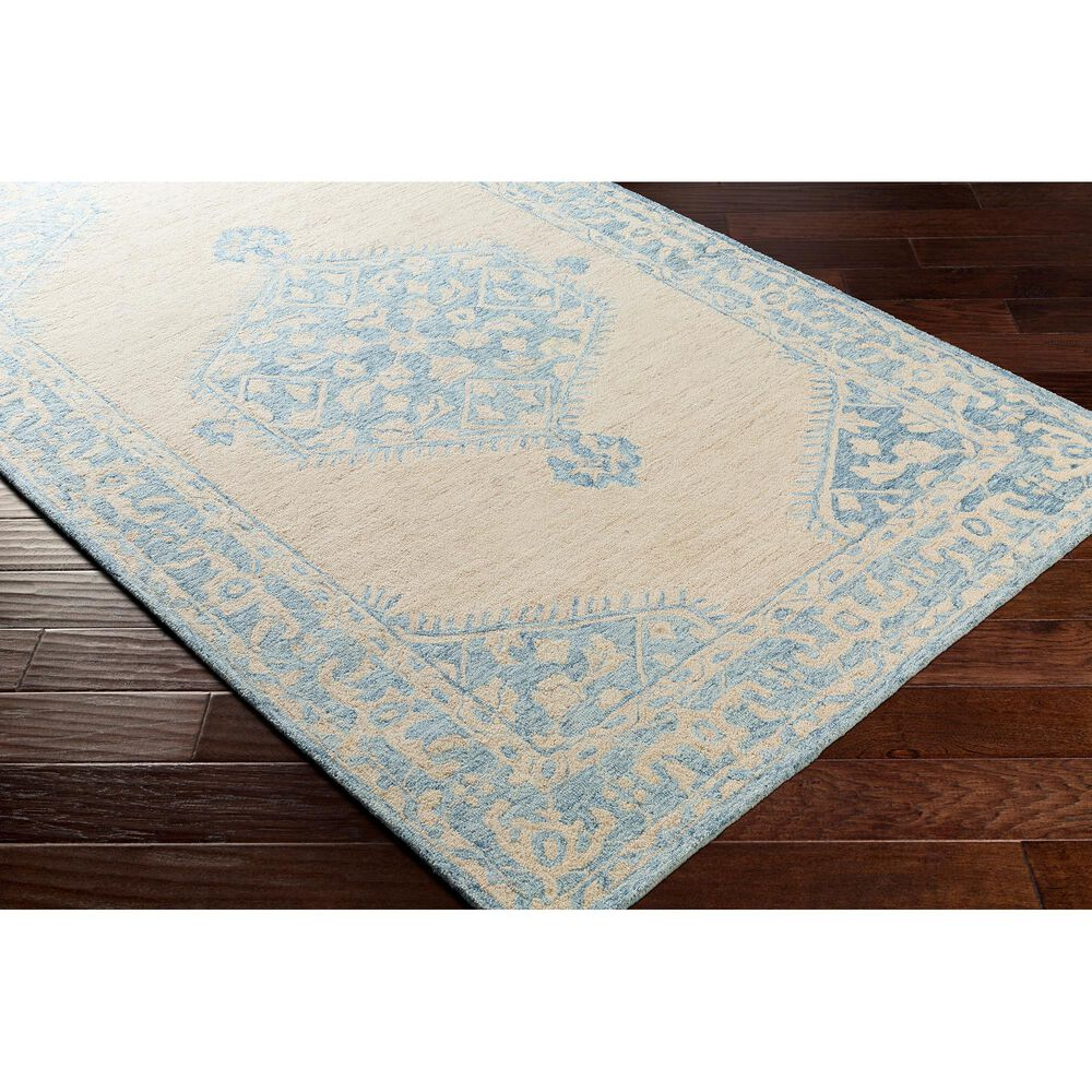 Surya Granada GND-2306 6' x 9' Pale Blue, Beige and Sky Blue Area Rug, , large
