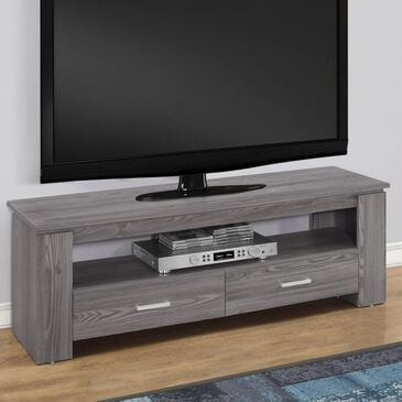 "Monarch Specialties 48"" TV Stand with 2 Drawers in Grey, , large"