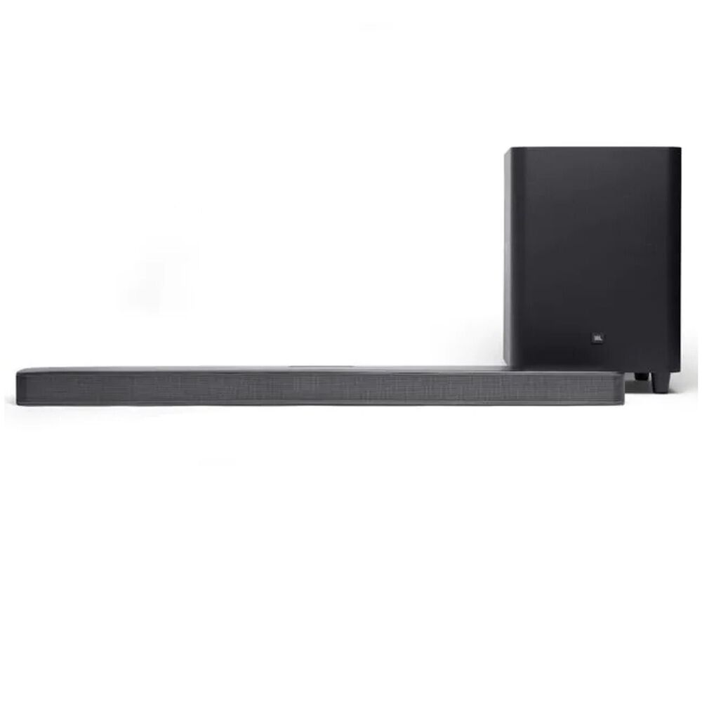 JBL 5.1 Channel Soundbar and Wireless Subwoofer System in Black + Austere III Series 4K Active HDMI Cable 8ft, , large