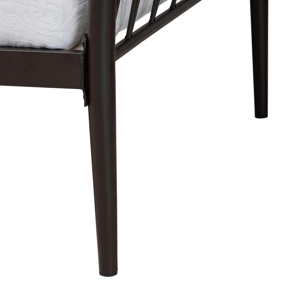 Baxton Studio Lysa Twin Daybed in Black, , large