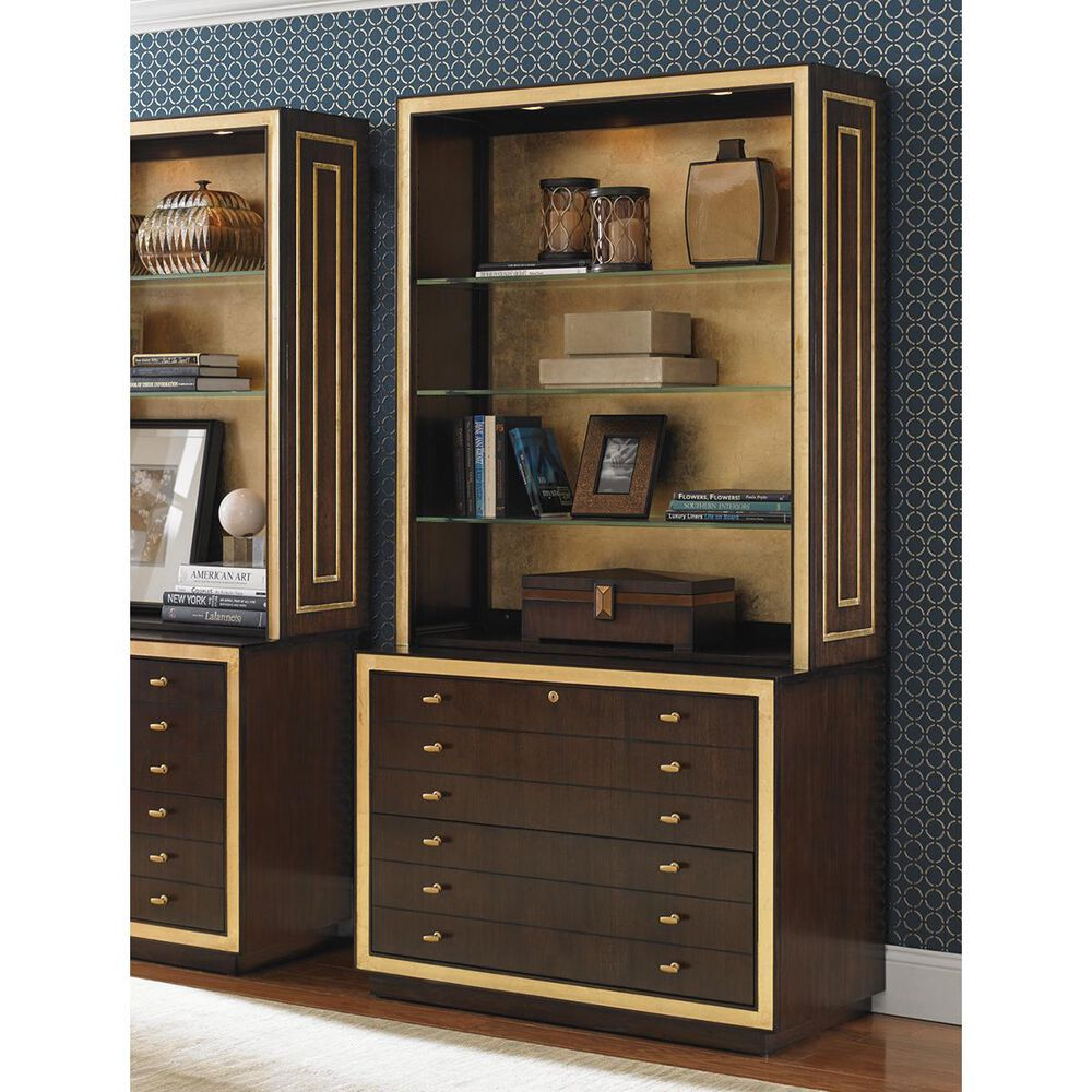 Sligh Bel Aire Beverly Palms File Chest in Walnut, , large