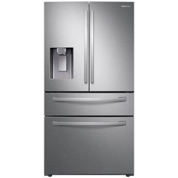 Samsung 22 Cu. Ft. 4-Door French Door Counter Depth Refrigerator with Food Showcase in Stainless Steel , , large