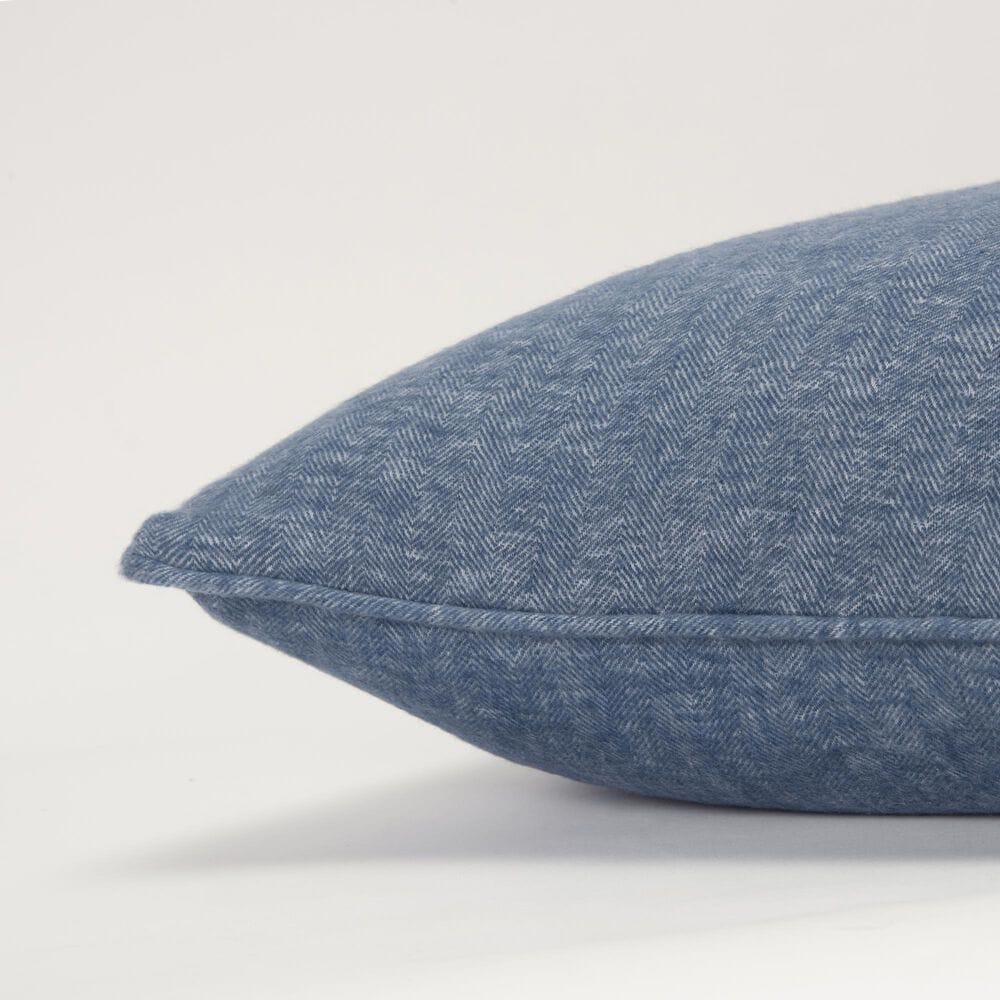 """Rizzy Home Solid 20"""" Down Filled Pillow in Blue, , large"""