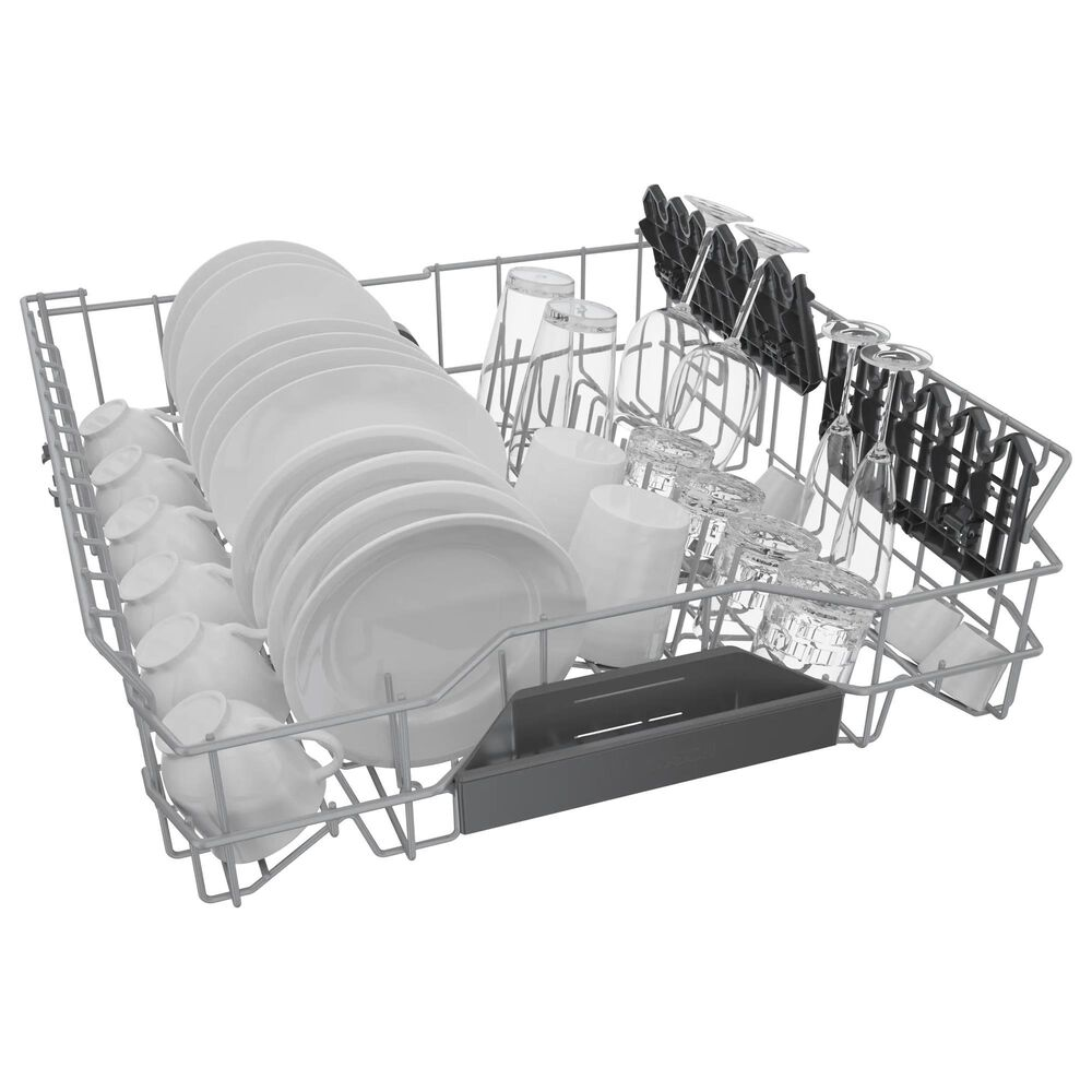 """Bosch 800 Series 24"""" Front Control Recessed Handle Dishwasher in Stainless Steel, , large"""