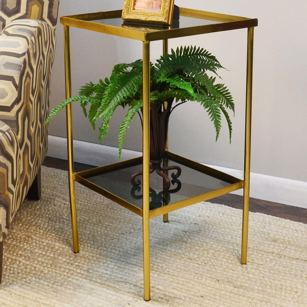 Carolina Chair and Table Shea Side Table in Black and Gold, , large