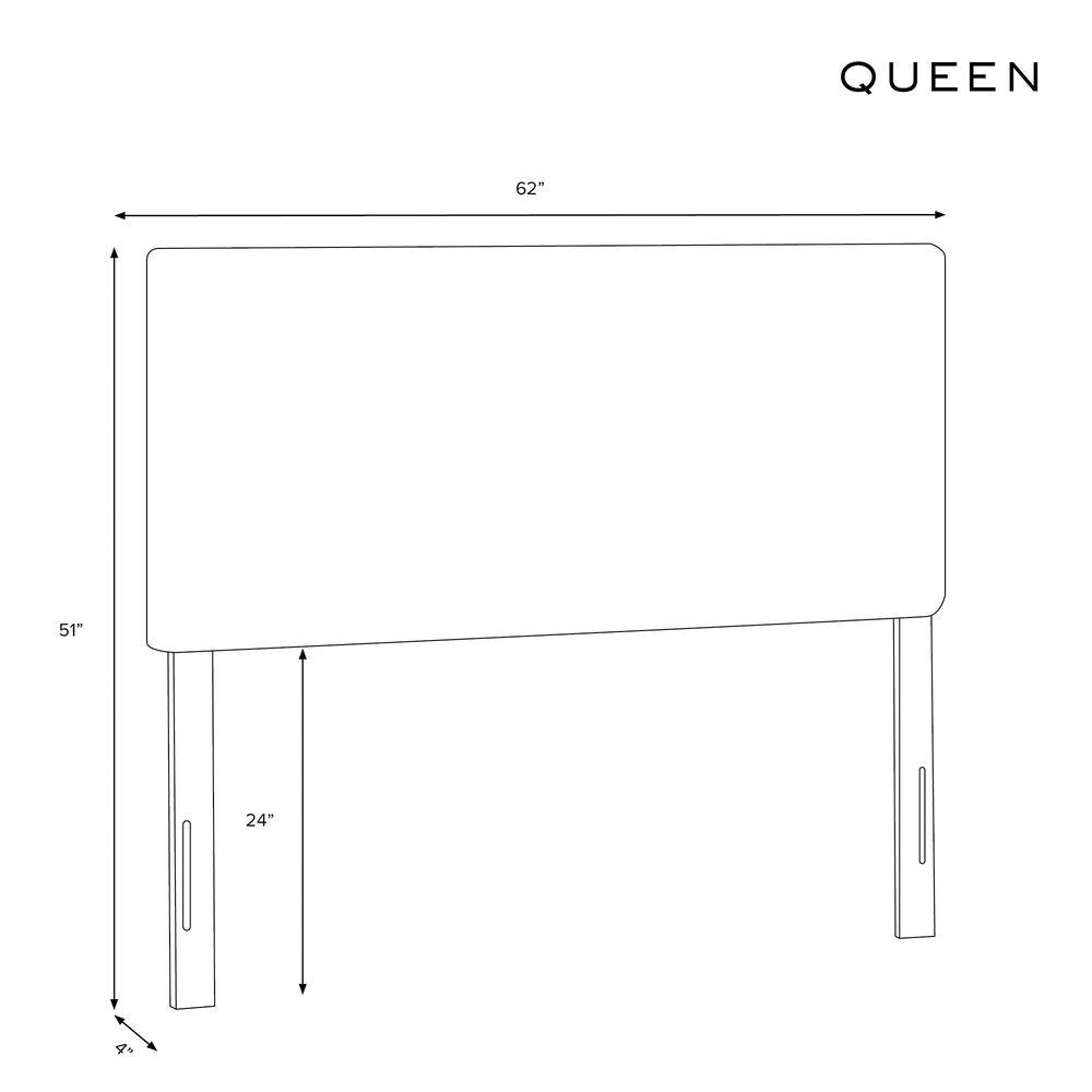 Skyline Furniture Queen Headboard in Velvet Black, , large