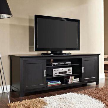 "Walker Edison 70"" Wood TV Stand in Black, , large"