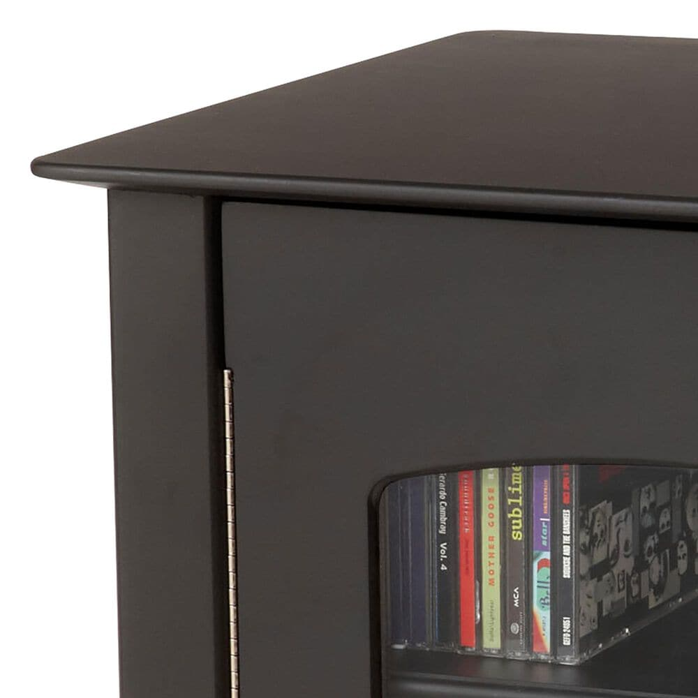 Crosley Furniture Bardstown Turntable Stand in Black, , large