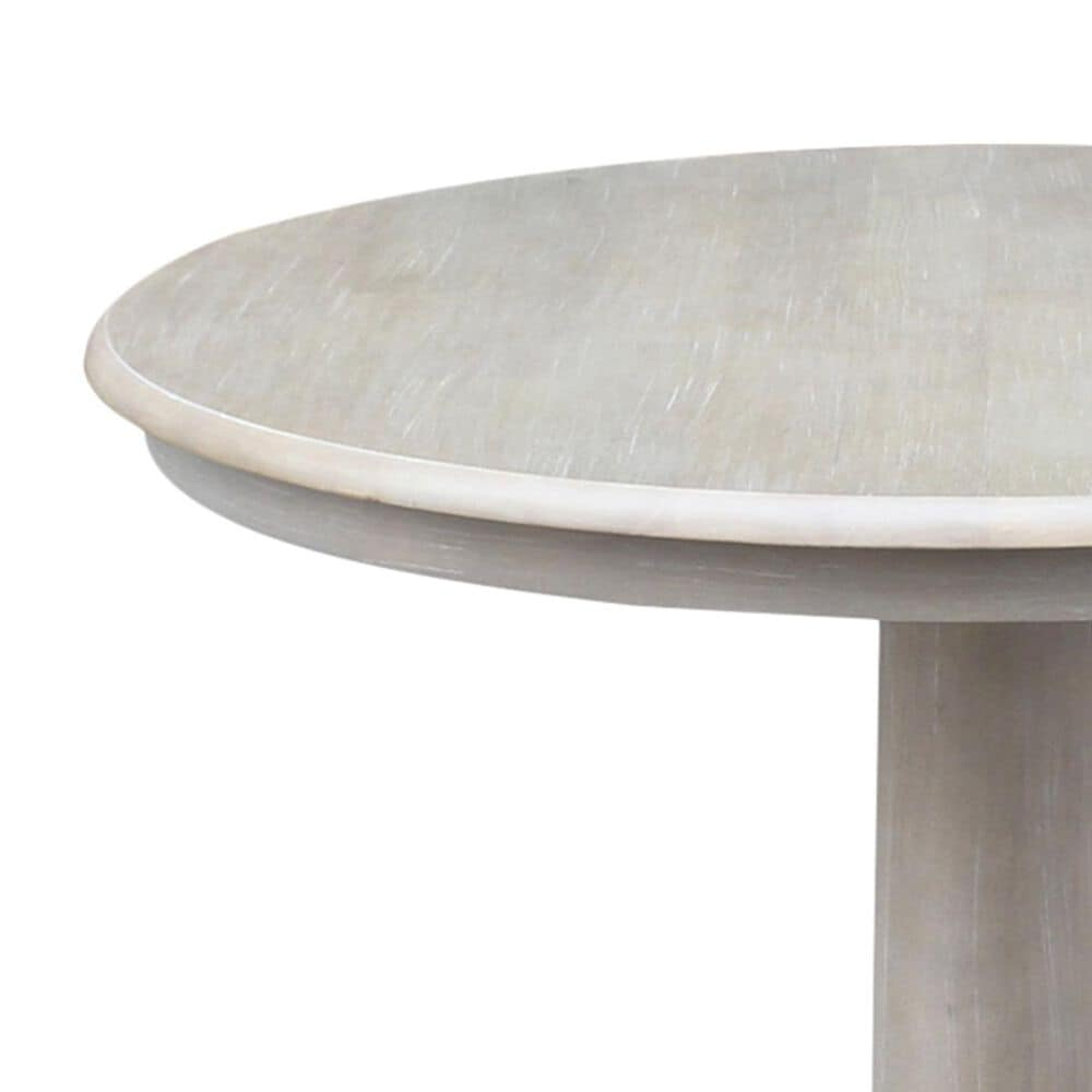 """International Concepts 36"""" Round Table in Weathered Grey - Table Only, , large"""