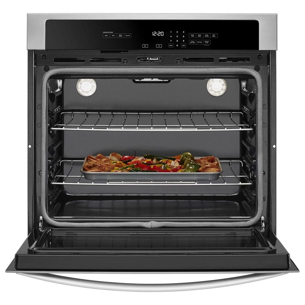"""Whirlpool 30"""" 5 Cu. Ft. Single Wall Oven with the Fit System in Stainless Steel, , large"""