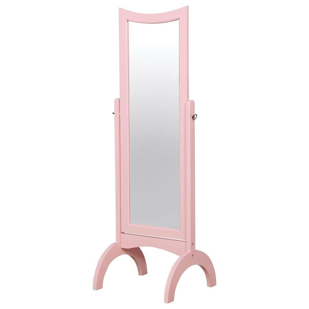 Furniture of America Robbins Floor Mirror in Pink, , large