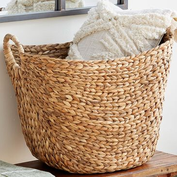 "Maple and Jade 17"" Basket in Brown, , large"