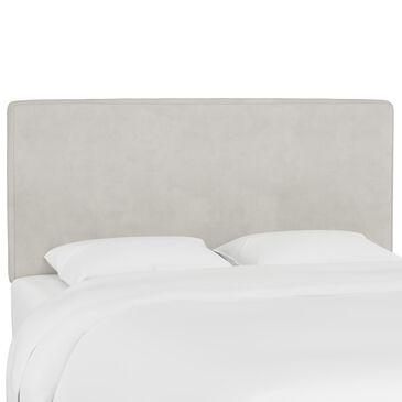 Skyline Furniture Twin Headboard in Velvet Light Grey, , large