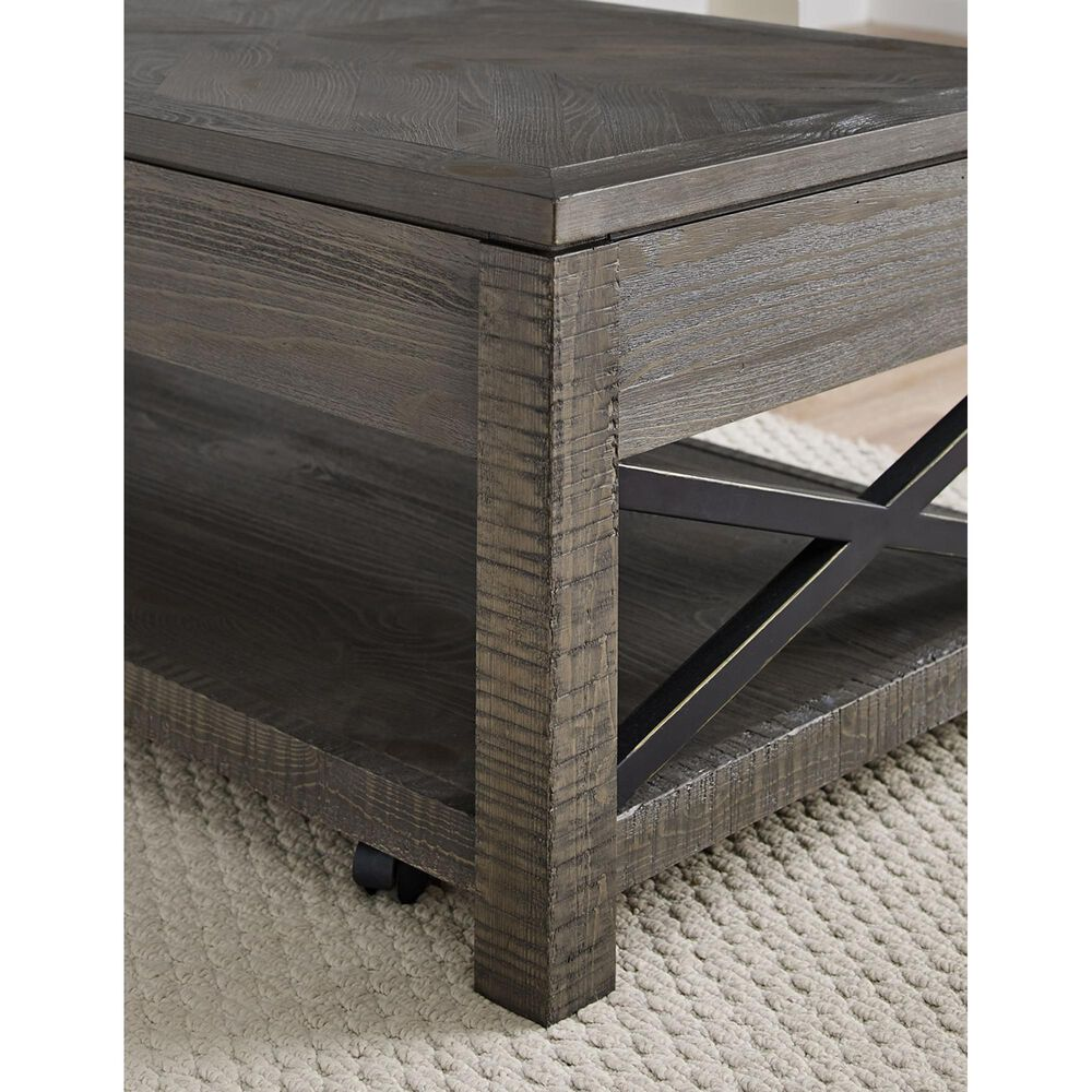 Crystal City Dexter Lift-Top Cocktail Table in Driftwood, , large