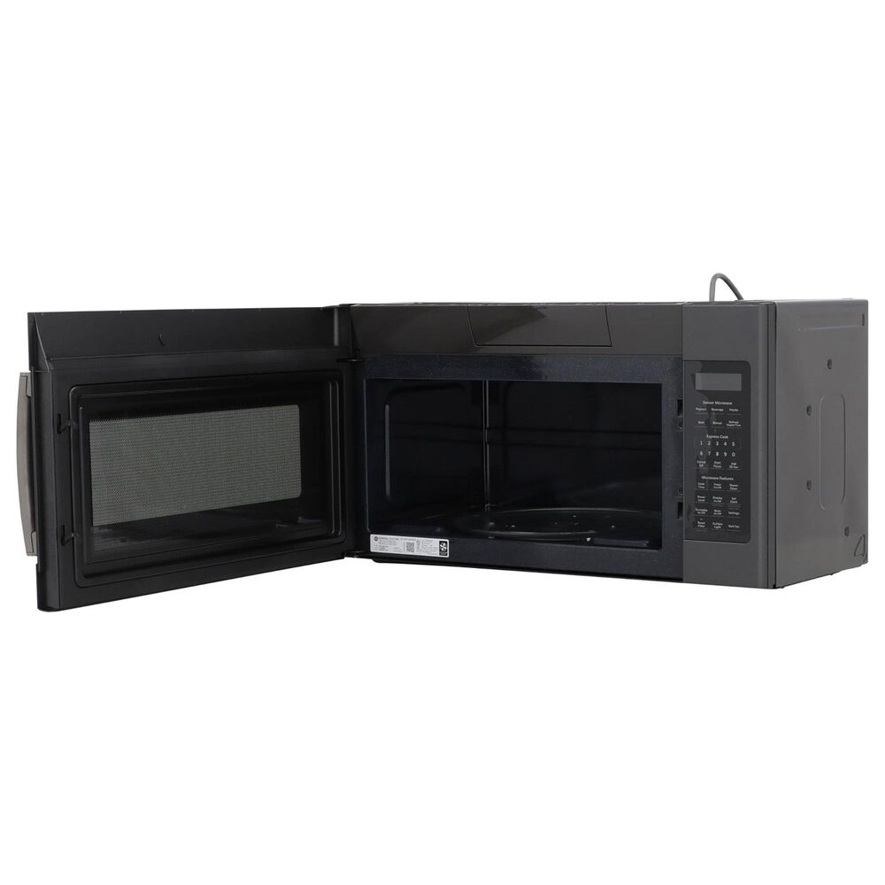 GE Appliances 2-Piece Kitchen Package with 30'' Gas Range and 1.9 Cu. Ft. Microwave Oven in Black Slate, , large