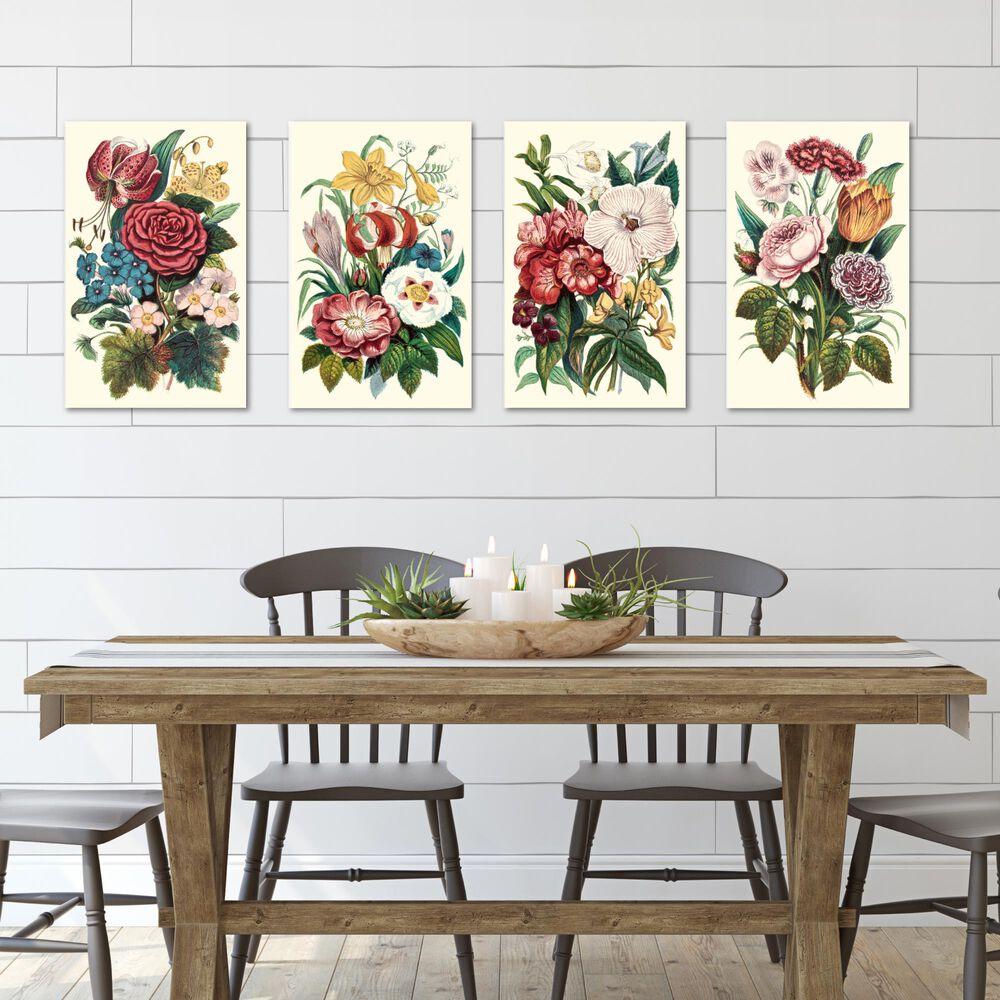 Courtside Market Wild Flower Fields 4-Piece Canvas Set, , large