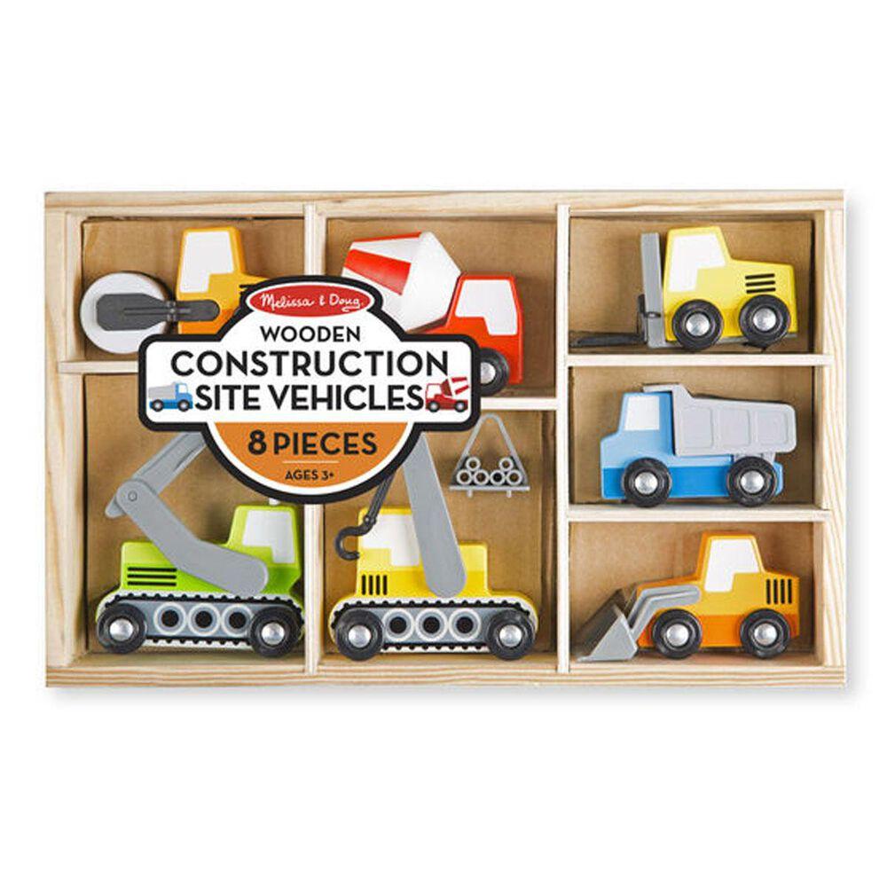 Melissa & Doug Wooden Construction Site Vehicles, , large