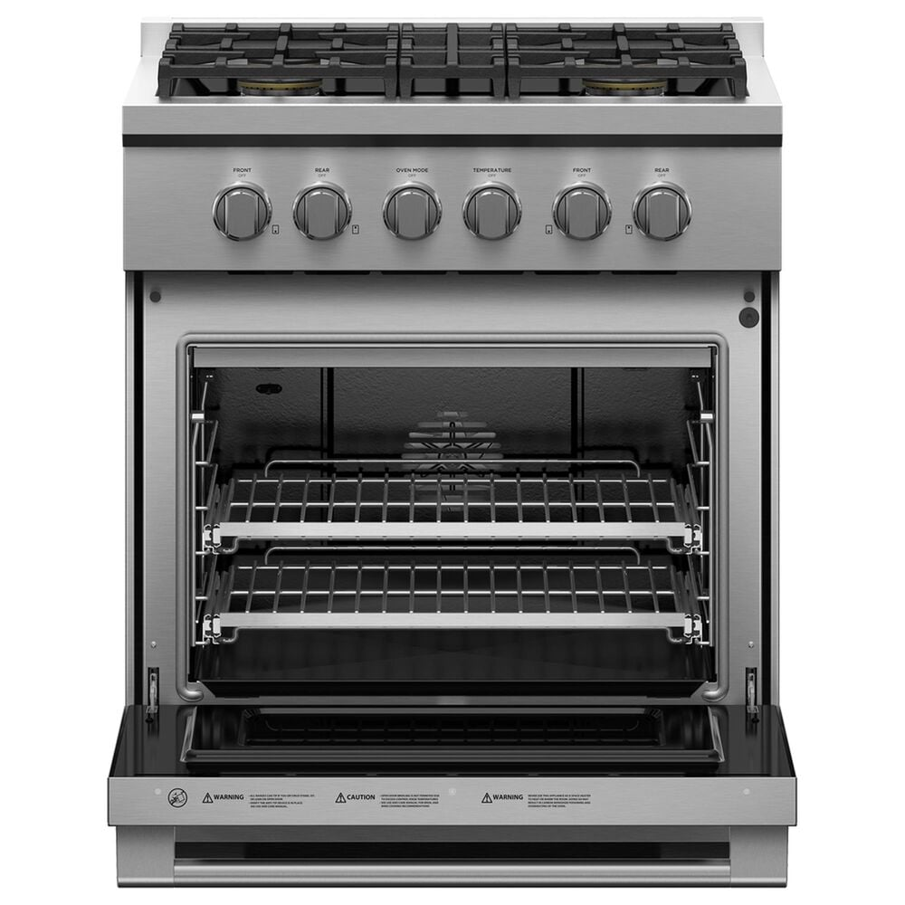 """Fisher and Paykel 30"""" Freestanding Natural Gas Range with 4 Burners in Stainless Steel, , large"""