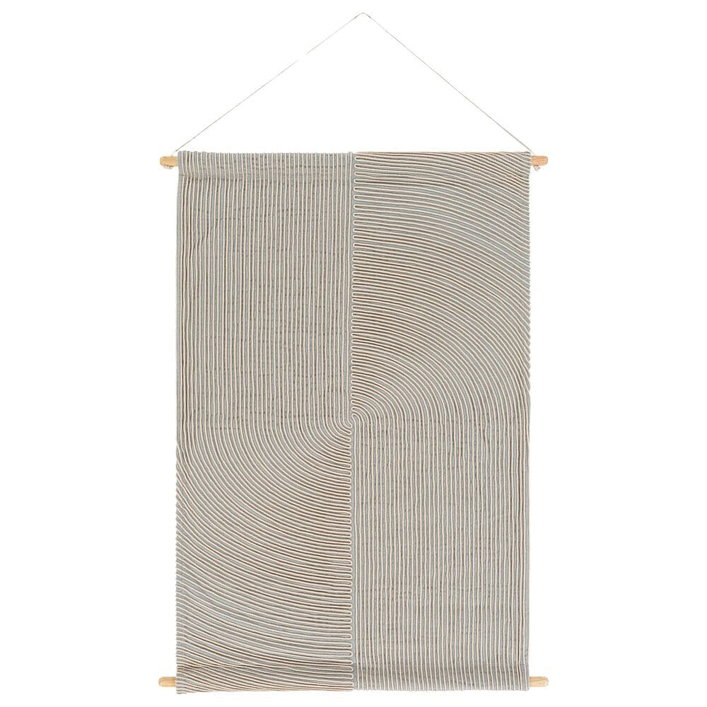 Surya Inc Pax Wall Hanging in Black and Cream, , large